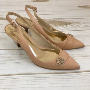 Coach Zhane Nude Pointed Toe Slingback Pumps